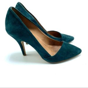 Madewell The Mira heel in gallery green